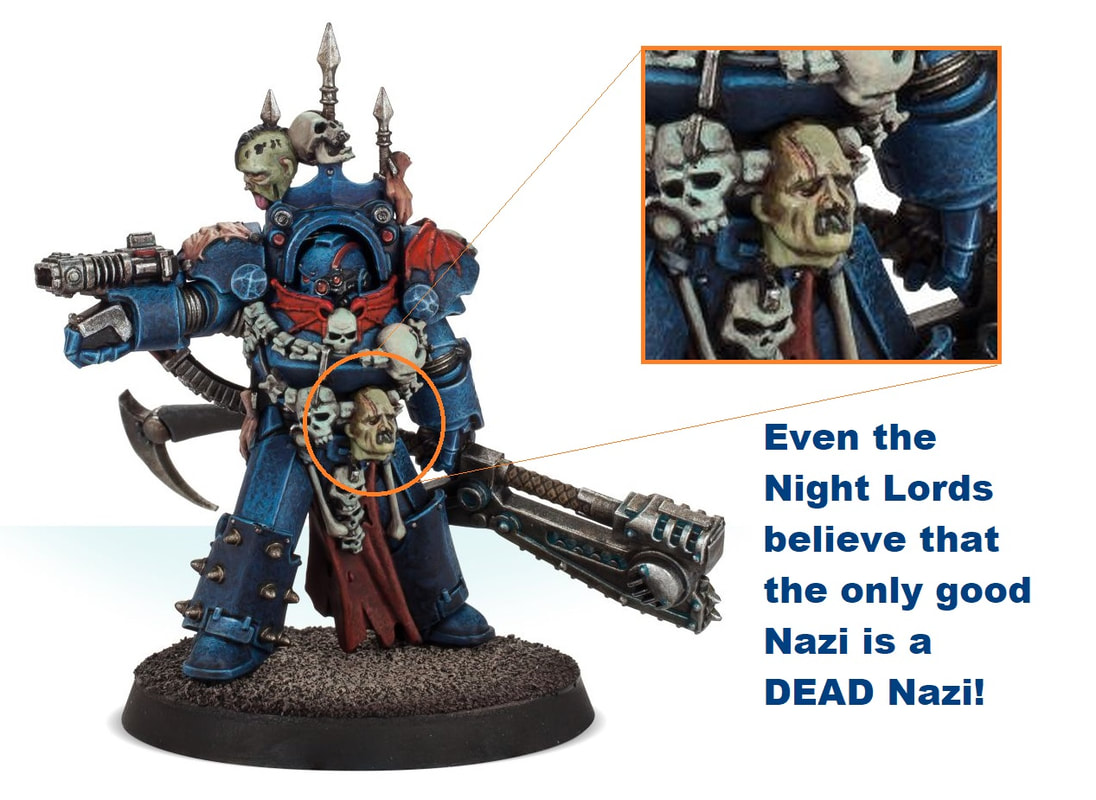 Night Lords Hate Nazis - BeardyHammer